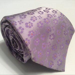 "J Garcia purple flowers silk tie 59x4"""